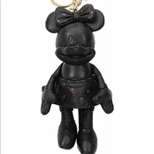 Coach Minnie Mouse black doll bag charm